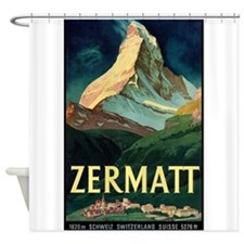 Zermatt, Switzerland Vintage Travel Poster Shower