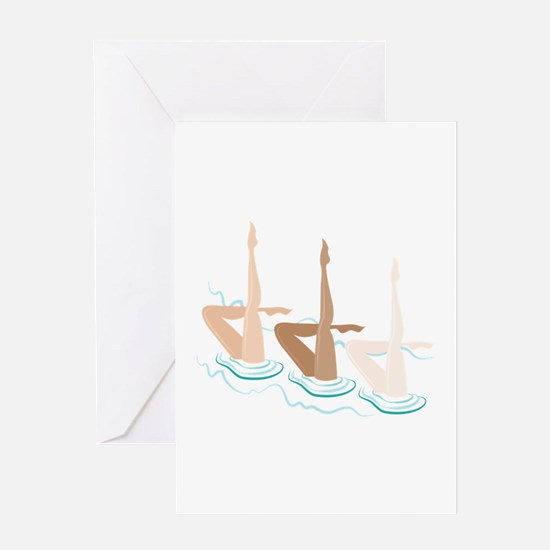 Synchronized Swimming Greeting Cards