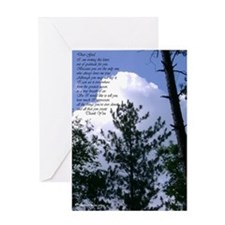 Gratitude Letter to Heaven Greeting Card