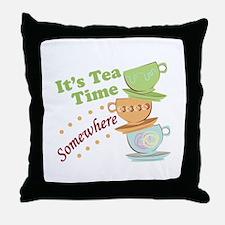 It's Tea Time Throw Pillow