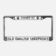 Owned by Old English License Plate Frame