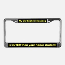 Honor Student OES License Plate Frame