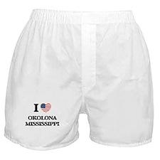 I love Okolona Mississippi Boxer Shorts