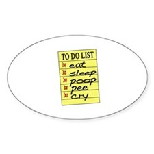 Baby To Do List Oval Decal