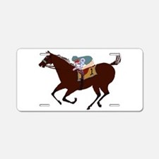 The Racehorse Aluminum License Plate
