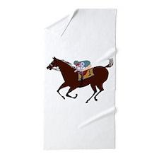 The Racehorse Beach Towel