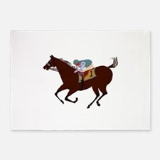 The Racehorse 5'x7'Area Rug