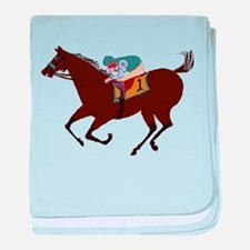 The Racehorse baby blanket