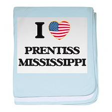 I love Prentiss Mississippi baby blanket