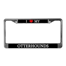 Love Otterhounds License Plate Frame