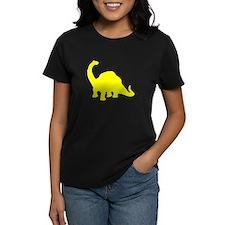 Brachiosaurus Silhouette (Yellow) T-Shirt