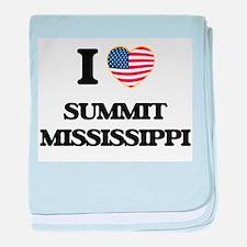 I love Summit Mississippi baby blanket