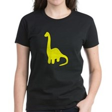 Brontosaurus Silhouette (Yellow) T-Shirt