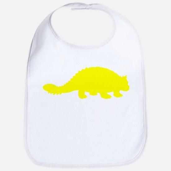 Ankylosaurus Silhouette (Yellow) Bib