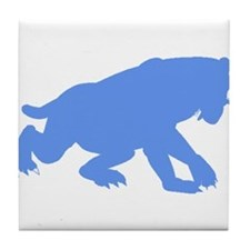 Smilodon Californicus Silhouette (Blue) Tile Coast