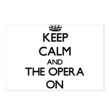 Keep Calm and The Opera O Postcards (Package of 8)
