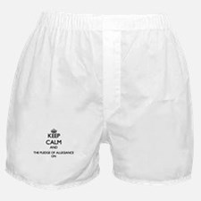 Keep Calm and The Pledge Of Allegianc Boxer Shorts