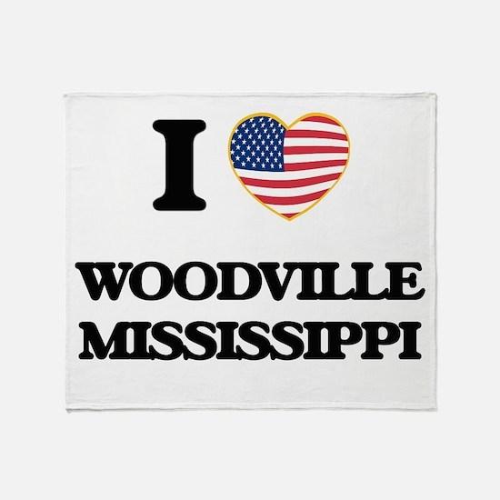 I love Woodville Mississippi Throw Blanket
