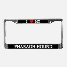 Love Pharaoh Hound License Plate Frame