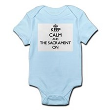 Keep Calm and The Sacrament ON Body Suit