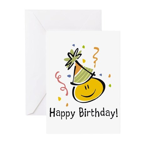 Happy Face Birthday Greeting Cards (Pk of 10)