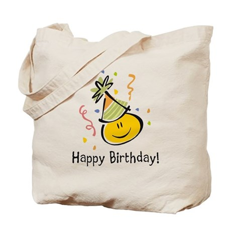 Happy Face Birthday Tote Bag