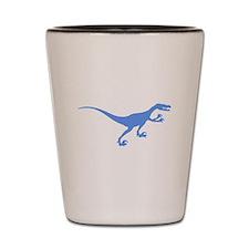 Velociraptor Silhouette (Blue) Shot Glass
