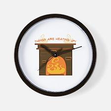 Heatinig Up Wall Clock