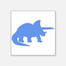Triceratops Silhouette (Blue) Sticker