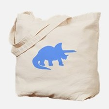 Triceratops Silhouette (Blue) Tote Bag