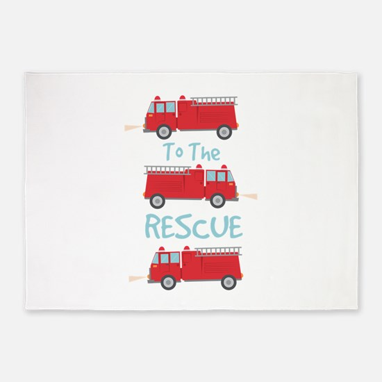 To The Rescue 5'x7'Area Rug