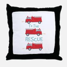 To The Rescue Throw Pillow