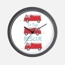 To The Rescue Wall Clock