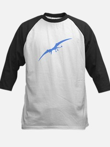 Pterodactyl Silhouette (Blue) Baseball Jersey