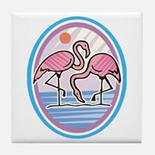 Pink Flamingos Tile Coaster