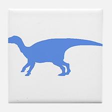 Iguanodon Silhouette (Blue) Tile Coaster
