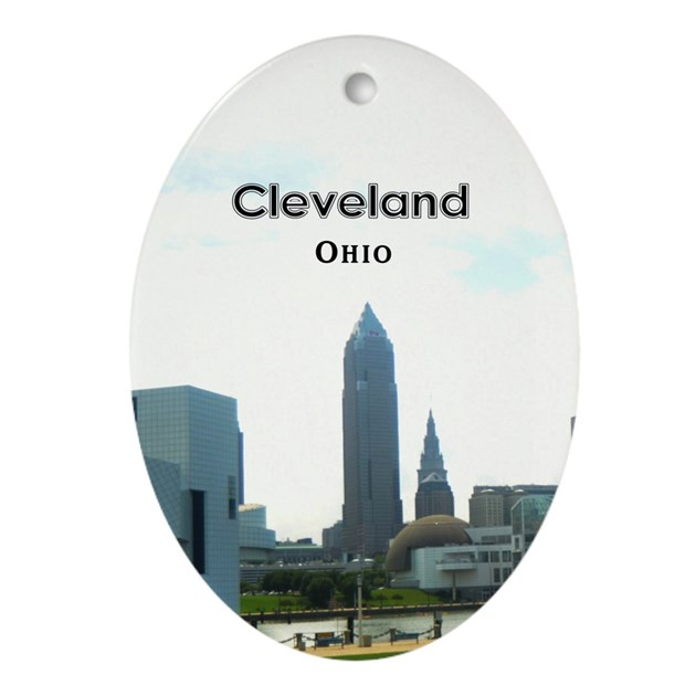 Cleveland Ornament Oval By Cle Oh