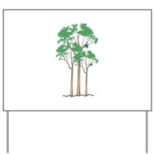 Forest Trees Yard Sign