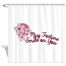 Cherry Blossom May Fortune Smile on You Shower Cur