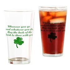 Irish Poem Drinking Glass