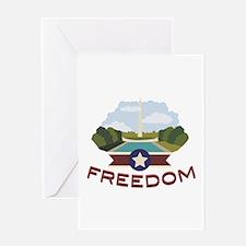 Washington Monument Freedom Greeting Cards