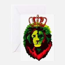 Iron Lion Zion Greeting Cards