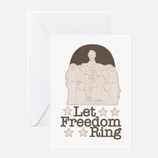 Lincoln Memorial Let Freedom Ring Greeting Cards