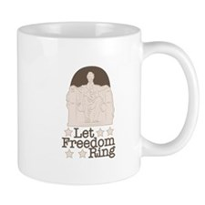 Lincoln Memorial Let Freedom Ring Mugs