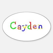 Cayden Balloons Oval Decal