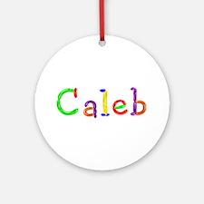 Caleb Balloons Round Ornament