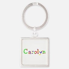 Carolyn Balloons Square Keychain