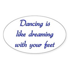 Dancing Oval Stickers