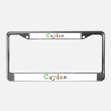 Cayden Balloons License Plate Frame