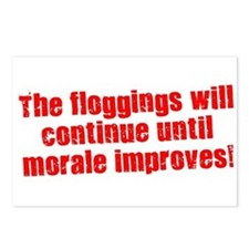The Floggings will Continue Postcards (Package of